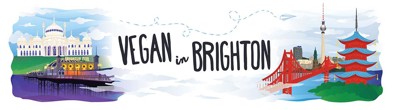 Vegan in Brighton blog header